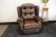 Chesterfield fauteuil.
